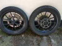 Yamaha R125 Wheels with tyres discs and Sprocket