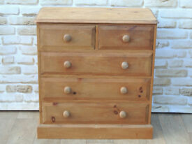5 Drawer Welsh Pine Heavy duty Chest (Delivery possible)