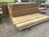 New garden railway sleepers