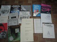 JOB LOT X 24 ASST MUSIC BOOKS AND SHEET MUSIC BOOKS