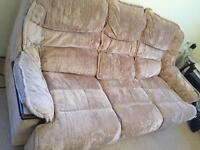 Free to collect 3 seater Sofa + armchair