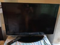 Tv samsung 32 perfect condition, remote control, cable, for colection only from birmingham.
