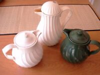 3 Insulated/Thermal tea and coffee pots -almost new and one new