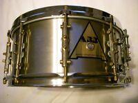 "ABB Custom stainless steel snare drum 14 x 6 1/2"" - London - '80s - Raniero Abbaticola"