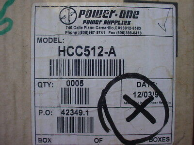 Power One Hcc512a Power Supply. In 115230 Out 5vdc 6amps And 9-15 Vdc 2.5 Amps