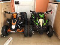 2 36 volt electric quads 1000w