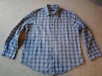 Rocha John Rocha shirt, blue/grey check, size large