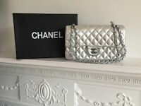 Silver Chanel Bag