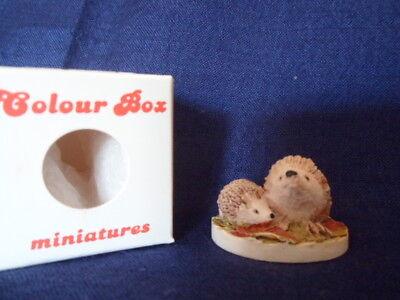 Colour Box Miniatures Scotland hedgehogs ornament