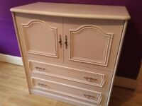 White cupboard/cabinet with 2 drawers