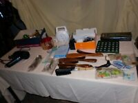 House Clearance. Miscellaneous items. Phone equipment. Hairdryer.