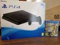 New PS4 SLIM jet black unopened with New Fifa