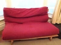 Wooden Frame Fold Out Futon - £20 Quick Sale