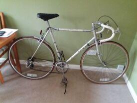 W F Holdsworth racing bike silver