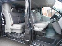 FINANCE ME!! NO VAT!! Stunning vauxhall vivaro lwb 2.0ltdi sportive factory six seat crew van!!...