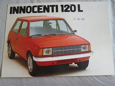 Innocenti 120L brochure May 1978 German text