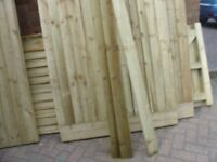 FENCE FEATHER EDGE BOARDS 100MMX 1650 LONG ALL TREATED