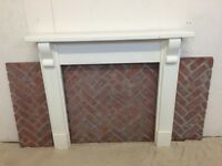 Fire Place Surround, Wood and Brick