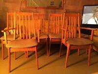Set of 6 (six) Jentique Dining Chairs including 2 Carvers