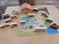 Wooden city toy