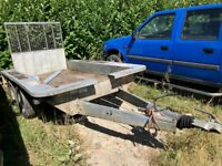 Ifor Williams digger/plant trailer