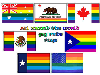 All World Flags (3x5 Wholesale Lot All Around The World Gay Pride Set Flags Flag)
