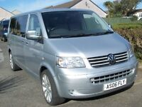 "V W Transporter T5 Silver Campervan 1.9 TDI T30 104 LWB Air con.Cruise control.Power Steering.20""All"