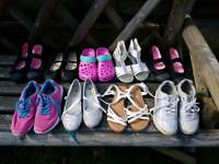 9 x pairs of girls shoes size 2