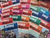 Vintage 'Railway' magazines x 23