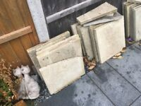 PAVING SLABS SECONDHAND suitable for a shed base or similar