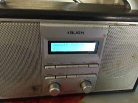 DAB bush radio silver/black
