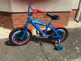 "16 "" Spider-Man bike- USED Twice."