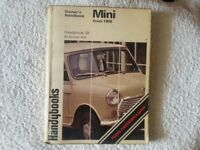 Classic Mini - Owners handbook maintenace guide 1959