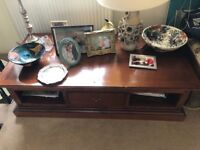 Low Rise , Coffee Table, Mahogany TV Table