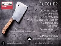 Butchers £9-£11.25/hr IMMEDIATE START