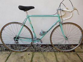 Classic Italian Celeste Green Bianchi race bike