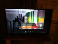 LUXOR 49INCH SMART TV DAMAGED DISPLAY PANEL SPARES OR REPAIRS