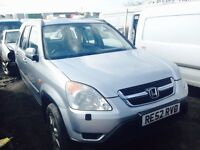 Honda CR-V jeep 2003 year spare parts engine petrol gearbox manual doors wings alloy wheels
