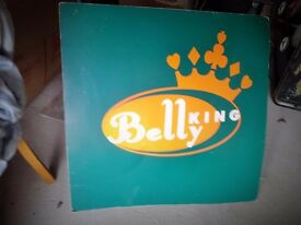 Pop Group 'Belly King' cardboard poster