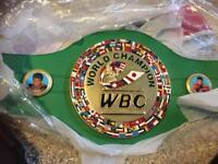 Boxing title championship belts not gloves