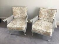 Two matching armchairs - must sell this week!