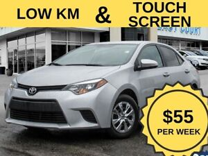 2014 Toyota Corolla LE Low KM  Touch Screen H Seats & Mirrors  R