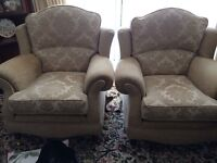 Frank Knighton 3 seater sofa and two armchairs