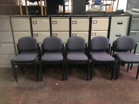 Blue / Grey Stackable Chairs