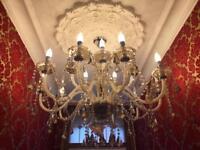 Stunning lead crystal chandelier. 15 arm .