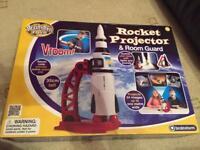 Rocket projector and room guard