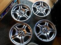 BMW genuine set of style 68 alloys staggered 7.5/8.5j