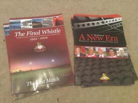 Hundreds of football programmes