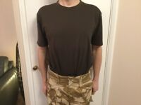 Army issue T-Shirt Brown, Size 102/M. Good Sports technical TShirt