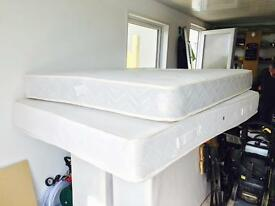 New Unused Duvan bed base + Mattress